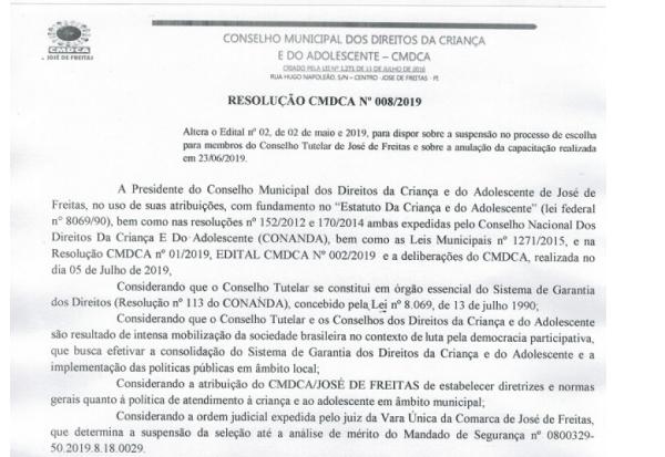 RESOLUÇÃO CMDCA Nº009/2019