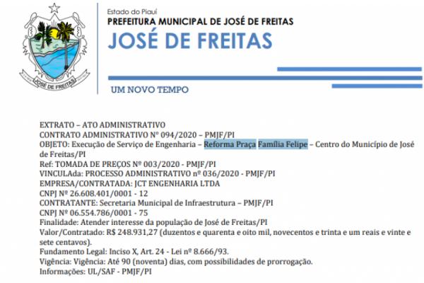 CONTRATO ADMINISTRATIVO N° 095/2020 – PMJF/PI