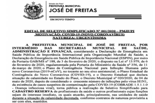 EDITAL DE SELETIVO SIMPLIFICADO 001/2020